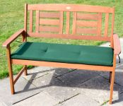 Windsor Hardwood 2 Seater Bench with Cushion by Liz Frances™