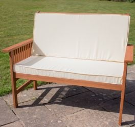 W113cm Chesham 2 Seater Bench With Cushion by Liz Frances™
