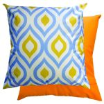Blue & Yellow Geometric Scatter Cushion by Gardenista