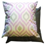 Pink & Grey Geometric Scatter Cushion by Gardenista