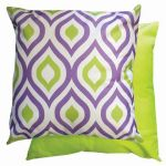 Purple &Lime Geometric Scatter Cushion by Gardenista