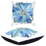 Turquoise Daisy Scatter Cushion by Gardenista