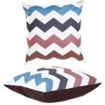 Multi-coloured Zigzag Scatter Cushion by Gardenista