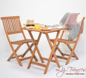 Bradfield Hardwood Folding Bistro Set - by Liz Frances™