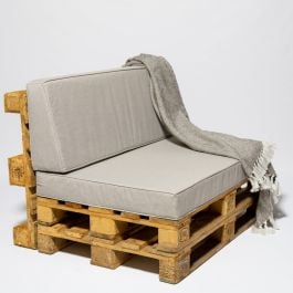 Garden Furniture Grey Pallet Cushions - Seat and Back