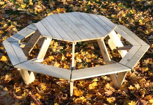 Junior Octagonal Wooden Garden Picnic Table