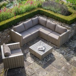 Bosham 6 Seater Polymwood Corner Sofa Set