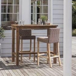 St Mawes Drinks/Planter Teak Bar Table