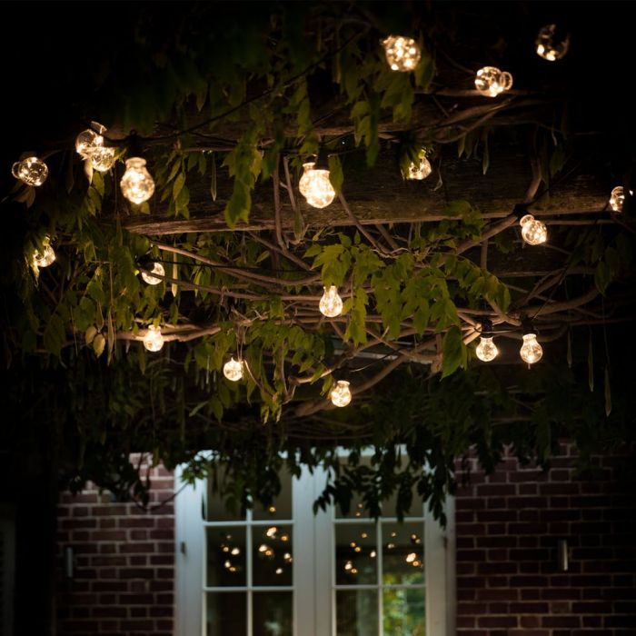Festoon Outdoor String Lights Classic 20 LED Bulbs