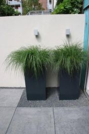 140cm Florida Powder Coated Aluminium Cube Planter In Black