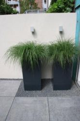 140cm Florida Powder Coated Aluminium Cube Planter In Black By Adezz