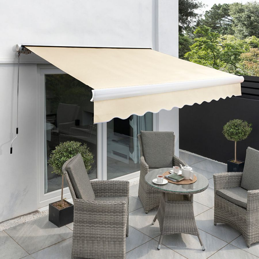 5.0m Full Cassette Manual Awning, Ivory Polyester
