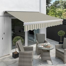 4.0m Full Cassette Electric Awning, Multi Stripe