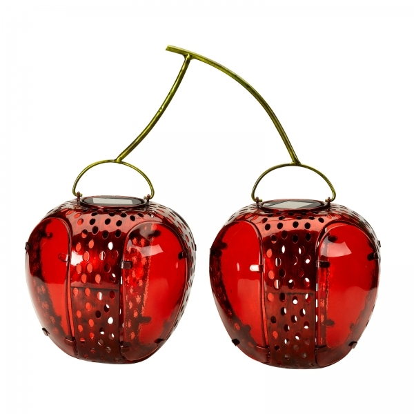 Smart Solar Funky Fruit Cherries Lantern