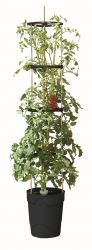1.5m Self Watering Grow Pot Tower in Anthracite