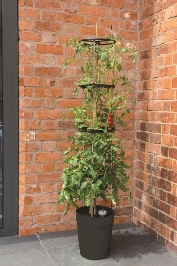 1 5m Self Watering Grow Pot Tower In Anthracite 163 19 99