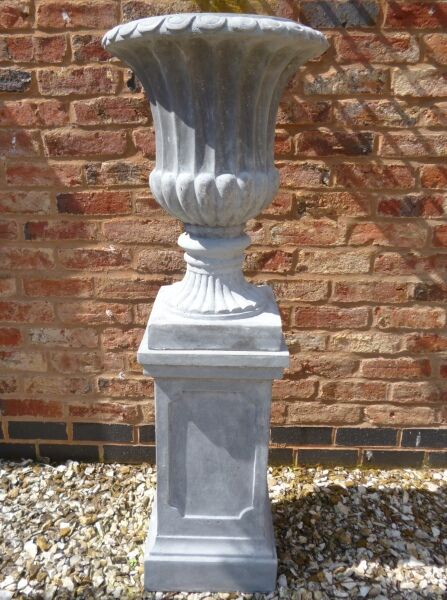 Stathern Urn Planter In Ancient Stone Colour H62cm X D44cm