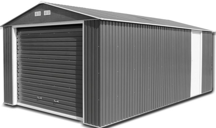 Olympian 12ft x 20ft Galvanised Steel Garage in Anthracite