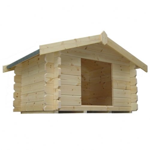 The Dog Log Cabin 3x5