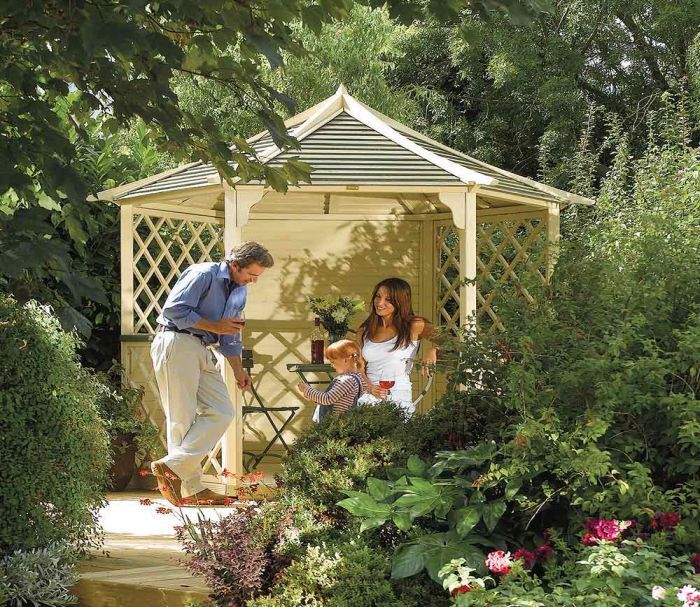 H2.7m (8ft 2in) Wooden Gainsborough Gazebo FSC® by Rowlinson®