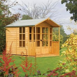 H2.2m (7ft 3in) Arley Garden Summerhouse with Veranda by Rowlinson®