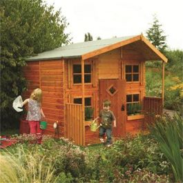 W2.48m x D2.48m (8ft x 8ft) Wooden Hideaway Playhouse by Rowlinson®