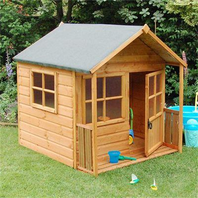 H1.6m (5ft 3in) Playaway Wooden Children's Playhouse by Rowlinson®