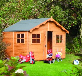 W2.47m (8ft 1in) Playaway Lodge Playhouse by Rowlinson®