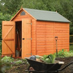 8ft x 6ft Shiplap Apex Security Shed by Rowlinson®