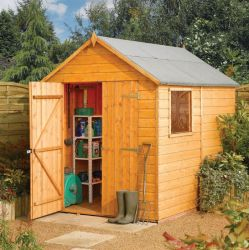 8ft x 6ft Shiplap Apex Modular Shed by Rowlinson®