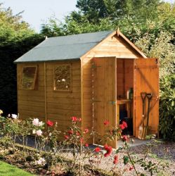 8ft x 6ft Shiplap Apex Shed by Rowlinson®