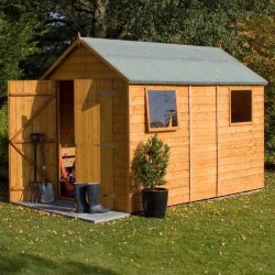 10ft x 6ft Double Door Shiplap Apex Shed by Rowlinson®