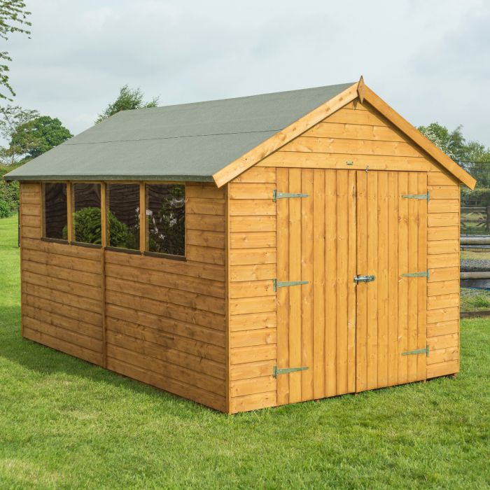 12ft x 8ft Double Door Shiplap Shed by Rowlinson®