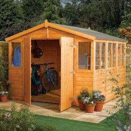 9ft x 9ft Double Door Apex Workshop by Rowlinson®