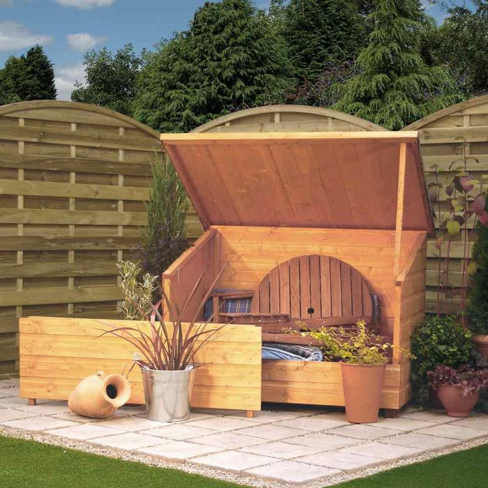 W1.38m (4ft 6in) Wooden Garden Storage Chest FSC® by Rowlinson®