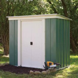 6ft x 4ft Double Door Apex Metal Shed by Rowlinson®