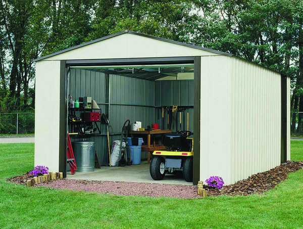 12ft x 31ft Murryhill Metal Apex Garage by Rowlinson®