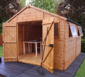 Mercia 12ft x 10ft Shiplap Tongue and Groove Workshop Shed