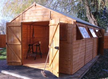 Mercia 20ft x 10ft Shiplap Tongue and Groove Workshop Shed