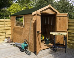 Mercia 10ft x 6ft Shiplap Tongue and Groove Apex Shed - Easy Fit Roof