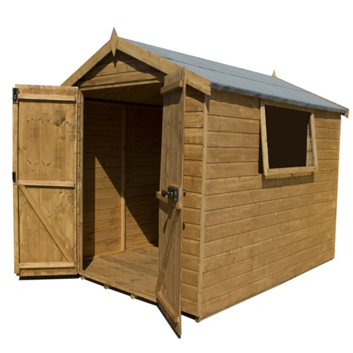Mercia 8ft x 6ft Shiplap Tongue and Groove Apex Shed