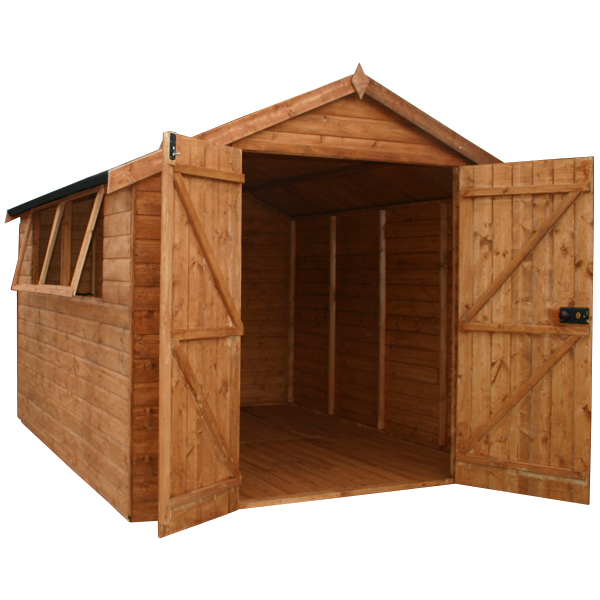 Mercia 10ft x 8ft Shiplap Tongue and Groove Apex Shed