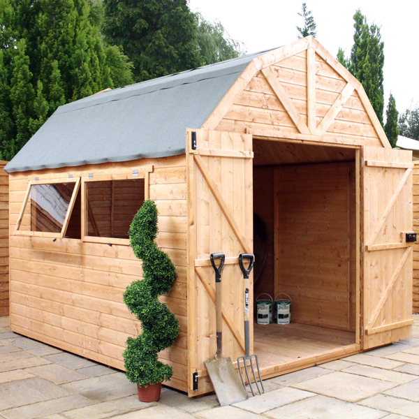 Mercia 10ft x 8ft Shiplap Tongue and Groove Dutch Barn Style Shed
