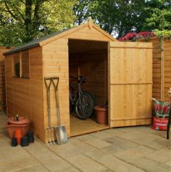 Mercia 8ft x 6ft Shiplap OSB Large Door Apex Shed