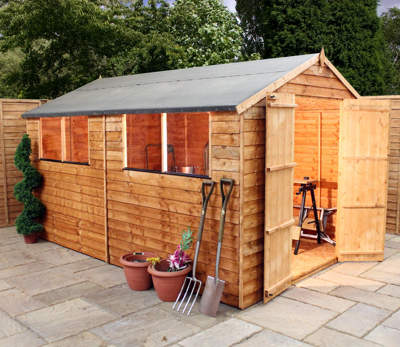 Mercia 10ft x 6ft Overlap Apex Shed