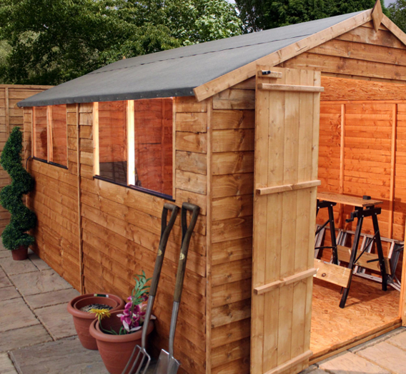 Mercia 10ft x 8ft Overlap Apex Shed