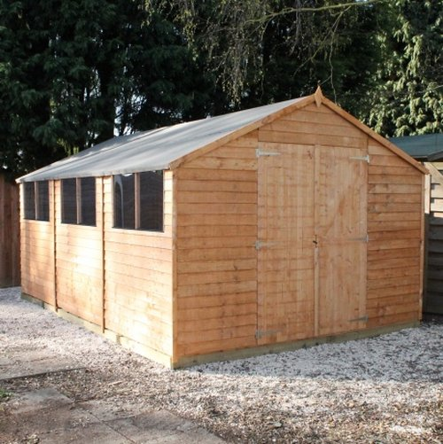 Mercia 15ft x 10ft Overlap Workshop Apex Shed
