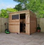 Mercia 8ft x 6ft Overlap Pent Shed