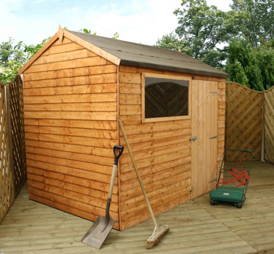 Mercia 8ft x 6ft Overlap Reverse Apex Shed