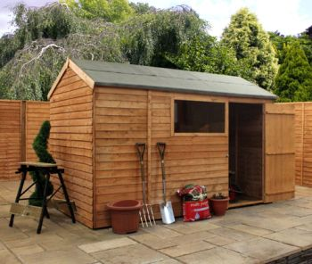 Mercia 10ft x 6ft Overlap Reverse Apex Shed
